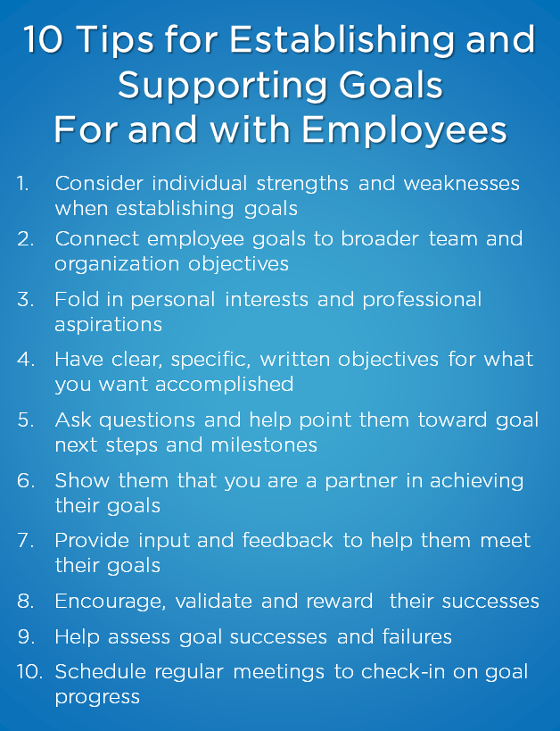 10 Tips for Supporting Employees Goals
