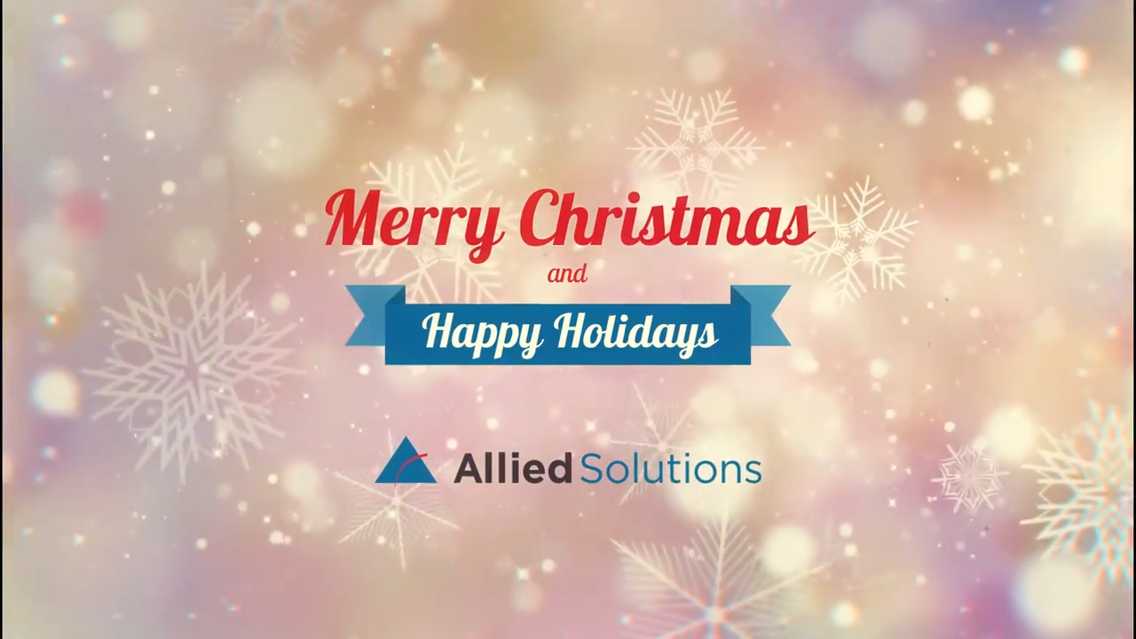 Allied Solutions shares 2020 holiday video message