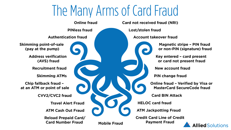 The Many Arms of Card Fraud