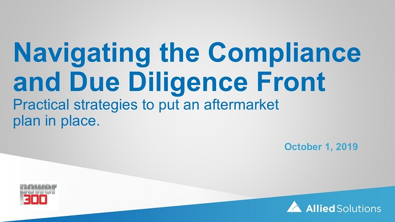 Navigating the Compliance and Due Diligence Front